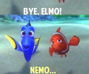 finding nemo, disney, and elmo image