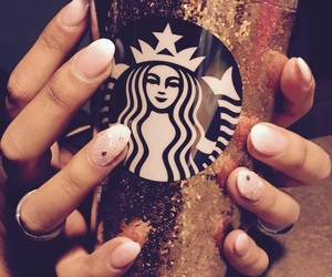 glitter, nails, and starbuck image