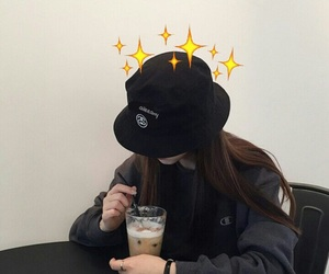 ulzzang, girl, and black image