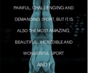 beautiful, gymnastics, and quote image