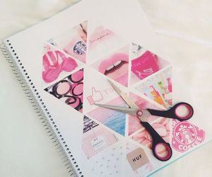 pink, diy, and notebook image