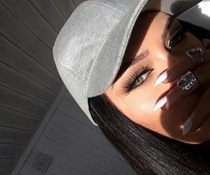 nails, makeup, and eyes image