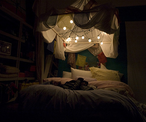 canopy, lights, and cosy image