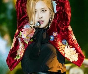 k-pop, black pink, and rose image