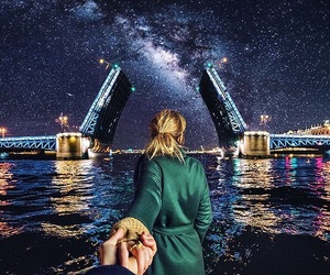 couple, bridge, and photography image