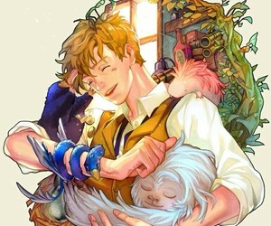 harry potter, art, and newt scamander image