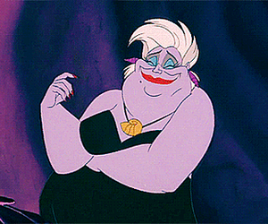 disney, the little mermaid, and ursula image