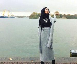 boots, hijab fashion look, and hijab image