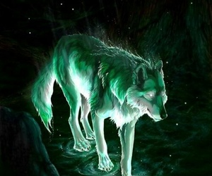 wallpaper, fantasy, and wolf image