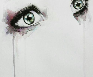 eyes, drawing, and cry image