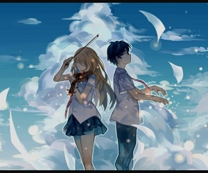 anime, shigatsu wa kimi no uso, and music image