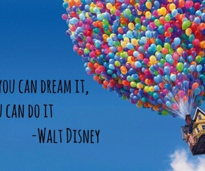 disney, Dream, and up image