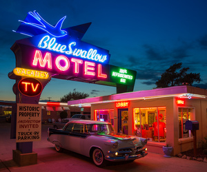 motel, aesthetic, and neon image