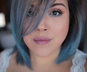 bluehair, pastelhair, and colorista image