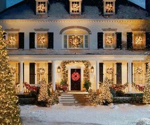 christmas, house, and xmas image
