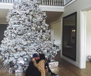 kylie jenner, tyga, and christmas image