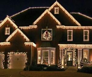 christmas, house, and night image