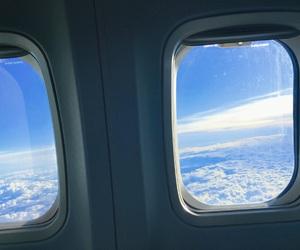 aeroplane, aesthetic, and airplane image