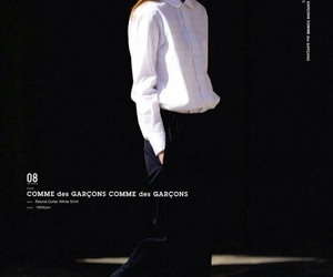 comme des garcons, fashion, and girl image