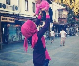 baby, hijab, and pink image