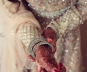 bride, wedding, and henna image