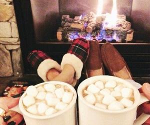 couple, winter, and christmas image