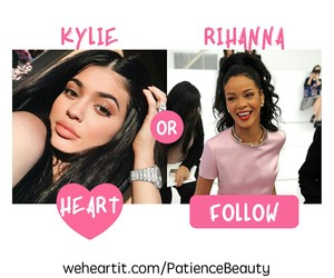 follow, heart, and rihanna image