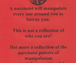 quotes, red and black, and narcissist image