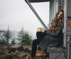 girl, photography, and mountains image