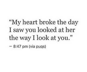 broke, looks, and quote image