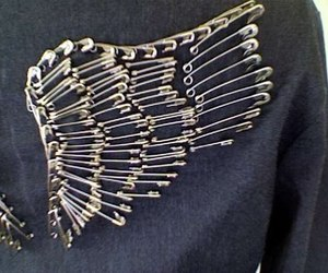 diy, safety pin, and wings image
