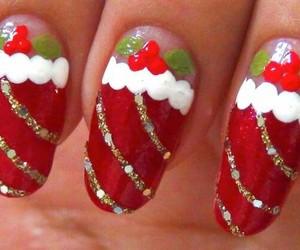 nail art, christmas, and christmas nail art image