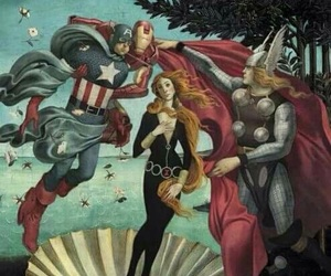 black widow, captain america, and thor image