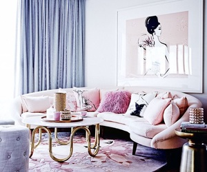 home, living room, and pink image