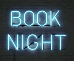 book, night, and neon image