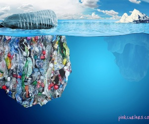 nature, plastic, and pollution image