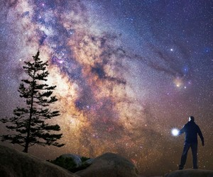 astronomy, galaxy, and stars image