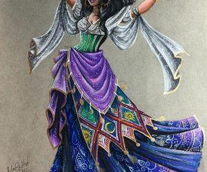disney, drawing, and esmeralda image