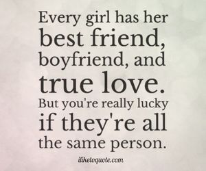 boyfriend, true love, and bestfriend image