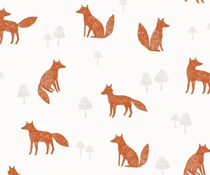 fox, wallpaper, and pattern image