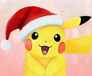 kawaii, pokemon go, and navidad image