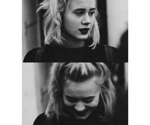 black, white, and girl image