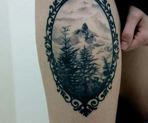 tattoo and forest image