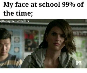 teen wolf, school, and funny image