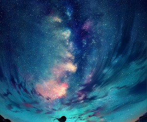sky, art, and stars image