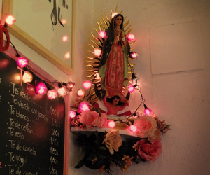 Catholic, la virgencita, and lights image