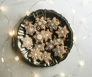 christmas, light, and gingerbread image