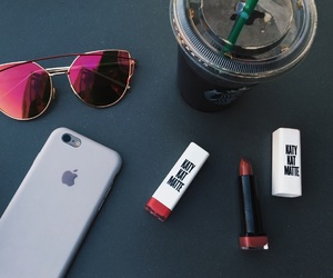 girly things, iphone, and lipstick image
