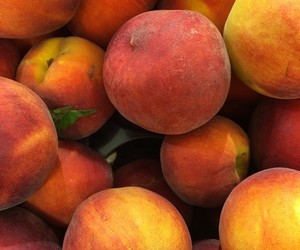 fruit, healthy, and peaches image