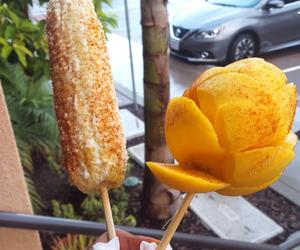 food, mango, and corn image